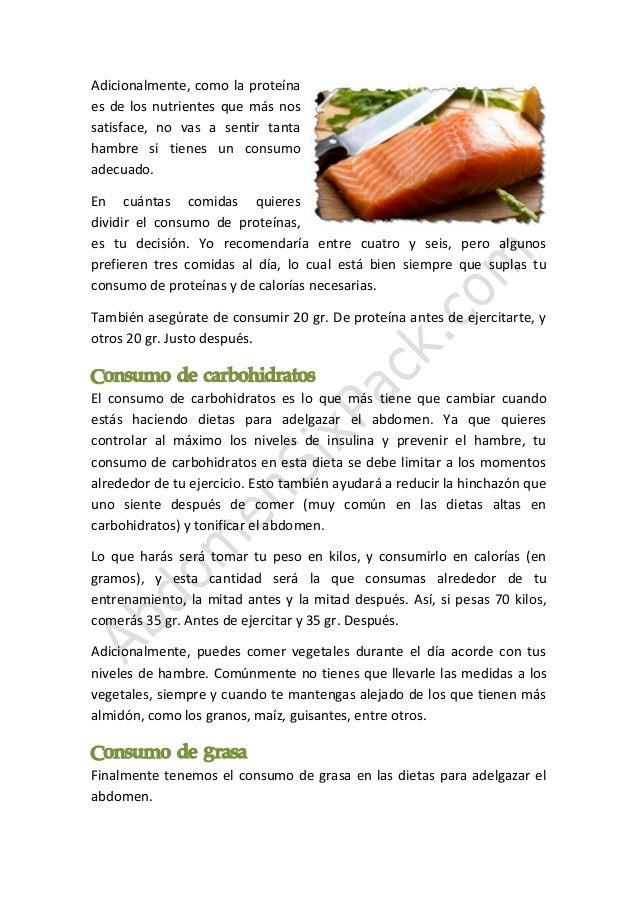 Comidas para dietas de adelgazar abdomen