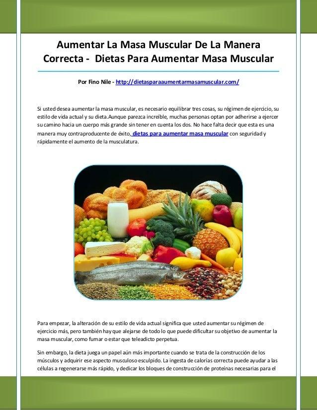 Aumentar La Masa Muscular De La Manera  Correcta - Dietas Para Aumentar Masa Muscular_____________________________________...