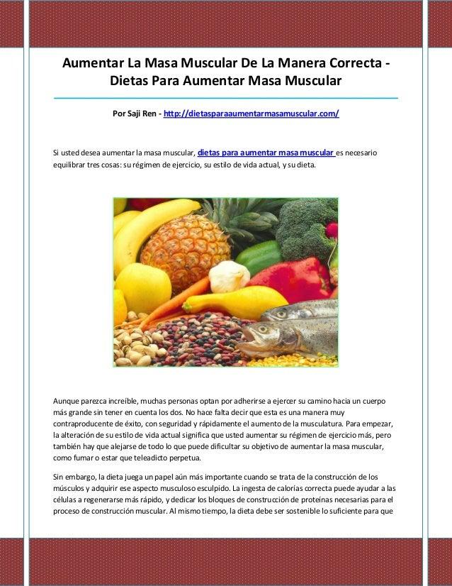 Aumentar La Masa Muscular De La Manera Correcta -        Dietas Para Aumentar Masa Muscular_______________________________...