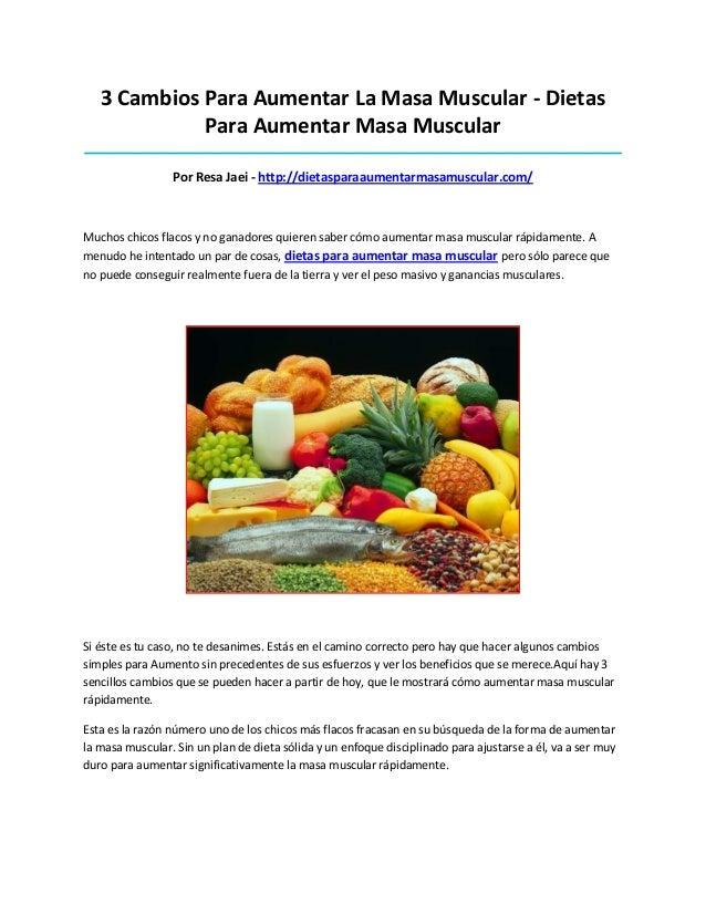 3 Cambios Para Aumentar La Masa Muscular - DietasPara Aumentar Masa Muscular______________________________________________...