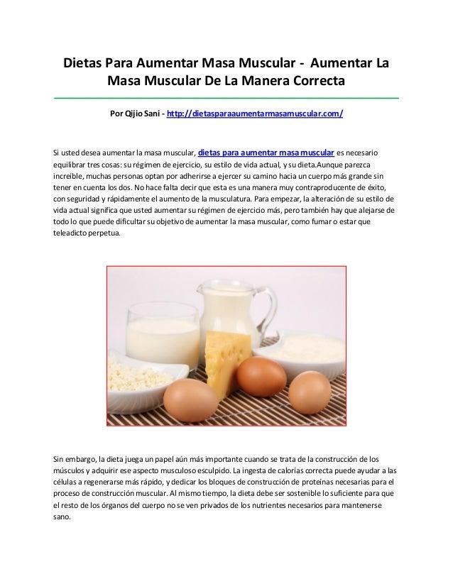 Dietas Para Aumentar Masa Muscular - Aumentar LaMasa Muscular De La Manera Correcta_______________________________________...