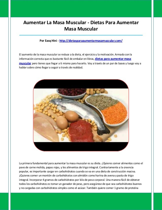 Aumentar La Masa Muscular - Dietas Para AumentarMasa Muscular_____________________________________________________________...