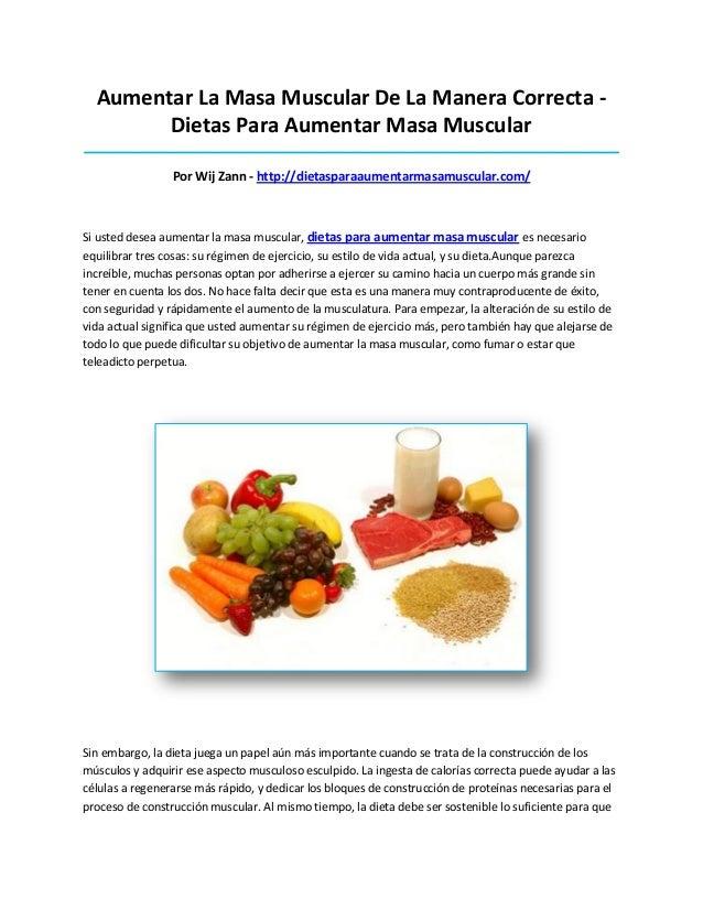 Aumentar La Masa Muscular De La Manera Correcta -Dietas Para Aumentar Masa Muscular_______________________________________...
