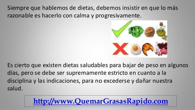 Dietas estrictas para bajar de peso en un mes