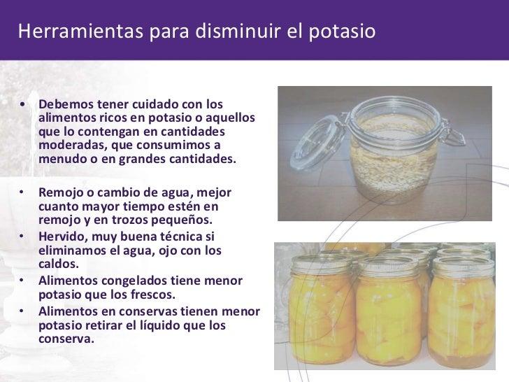 Dietas renales en el c digo de dietas hospitalarias - Alimentos en potasio ...