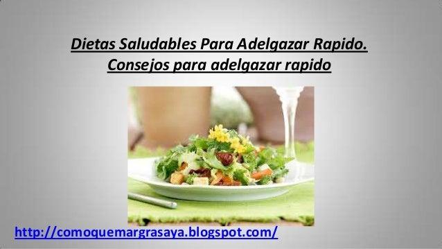 Dietas adelgazar rapido