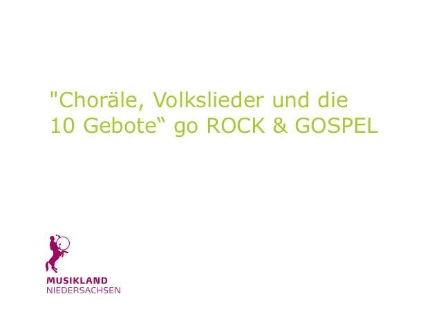 """AUS ALT MACH NEU """"Choräle, Volkslieder und die 10 Gebote"""" go ROCK & GOSPEL Dieter Falk"""