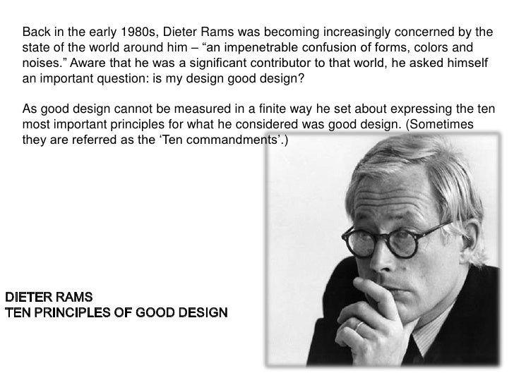 """Back in the early 1980s, Dieter Rams was becoming increasingly concerned by the  state of the world around him – """"an impen..."""