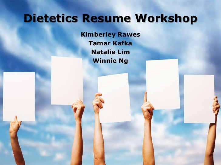 dietetics resume workshop