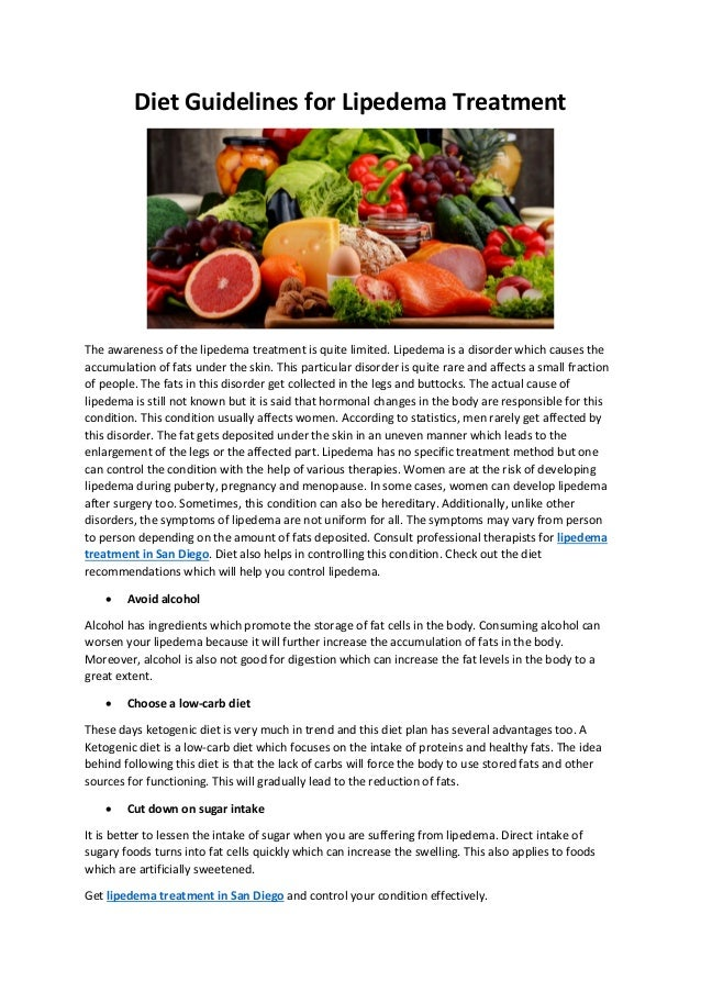 Diet Guidelines for Lipedema Treatment