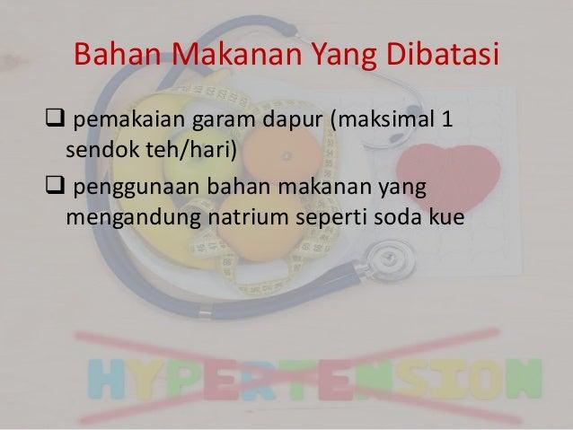 Bahan Makanan Yang Dianjurkan dan Dilarang Untuk Penderita Hipertensi. Apa saja Itu?