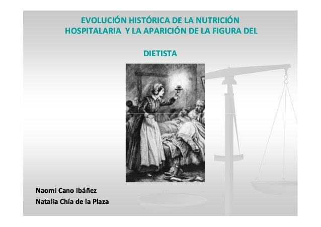 EVOLUCIÓN HISTÓRICA DE LA NUTRICIÓNEVOLUCIÓN HISTÓRICA DE LA NUTRICIÓN HOSPITALARIA Y LA APARICIÓN DE LA FIGURA DELHOSPITA...