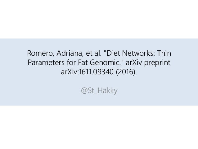 diet networks thin parameters for fat genomic