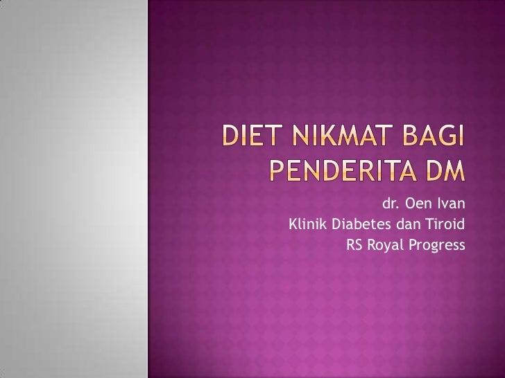 Diet Bagi Penderita DM