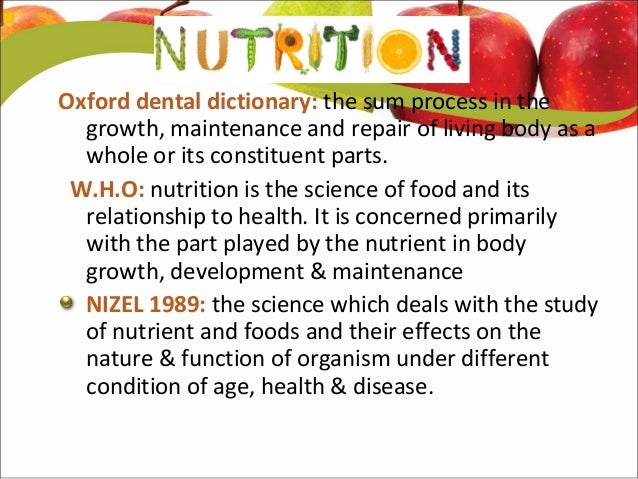 Scientific definition of nutrition - 7 years younger diet pdf