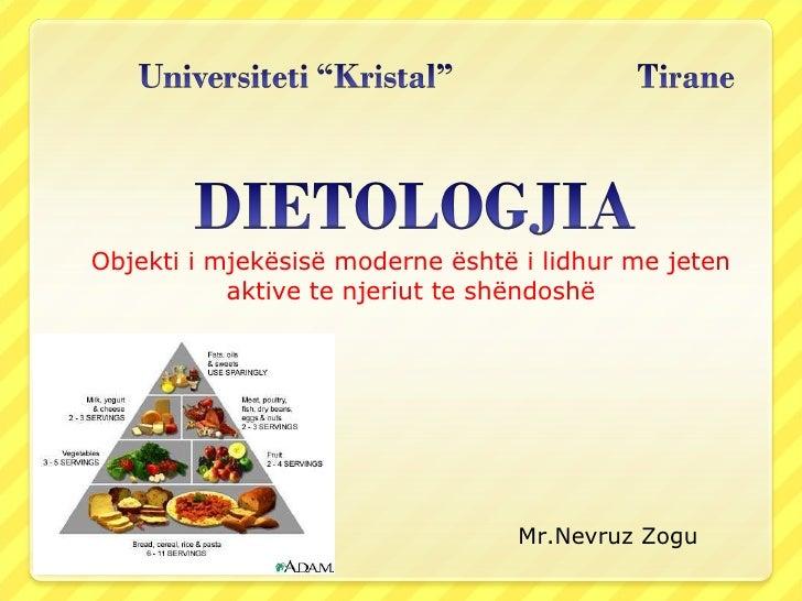 Objekti i mjekësisë moderne është i lidhur me jeten aktive te njeriut te shëndoshë Mr.Nevruz Zogu