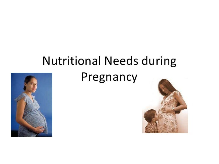Nutritional Needs during  Pregnancy<br />
