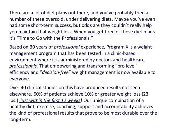 Diet plan positioning statements Slide 2
