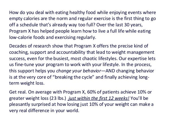 Diet plan positioning statements Slide 3