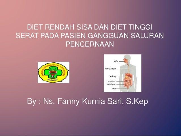 Standar Diet Sonde Rendah Protein