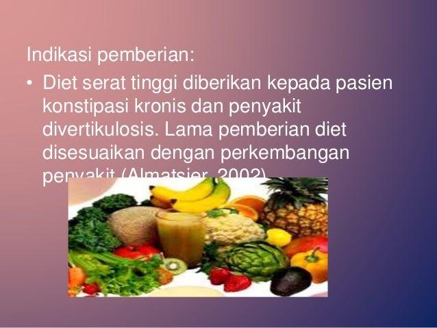 Diet Penyakit Divertikular (Diet Penyakit Saluran Cerna Bawah)