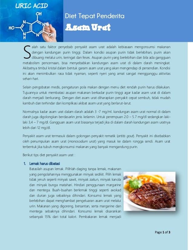 Diet Hipertensi, Kolesterol, dan Asam Urat