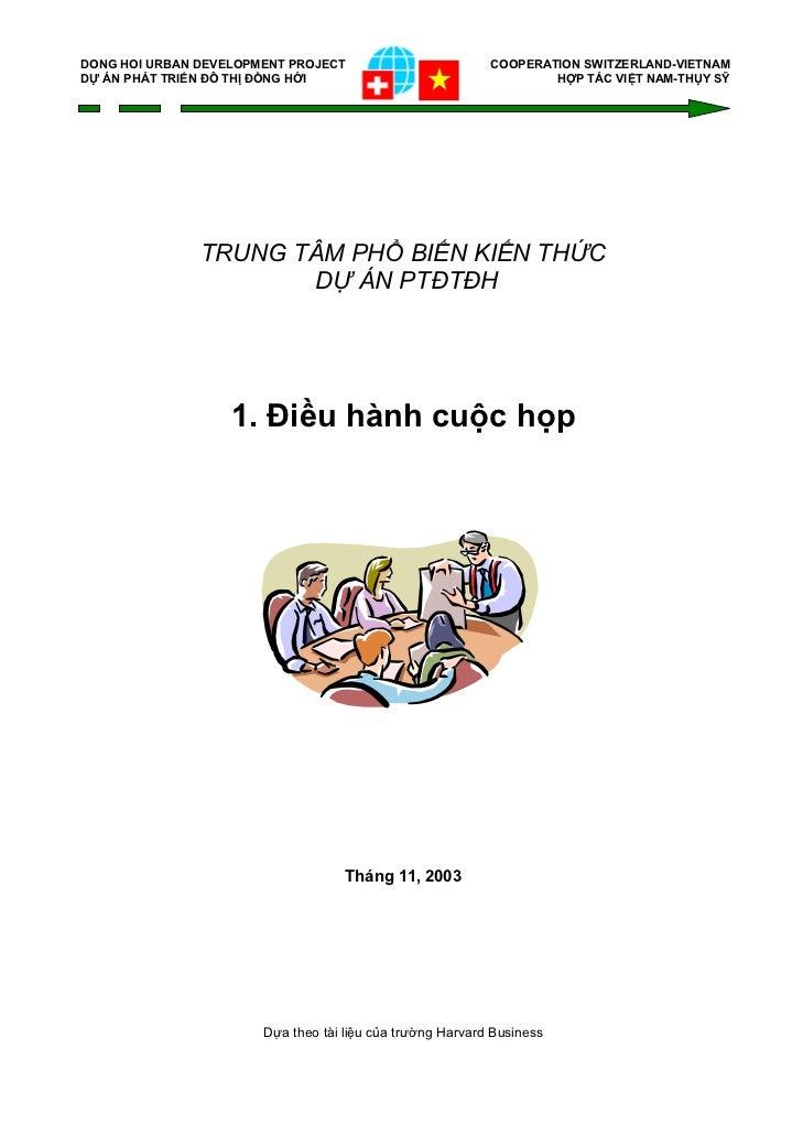 DONG HOI URBAN DEVELOPMENT PROJECT                         COOPERATION SWITZERLAND-VIETNAMDỰ ÁN PHÁT TRIỂN ĐÔ THỊ ĐỒNG HỚI...
