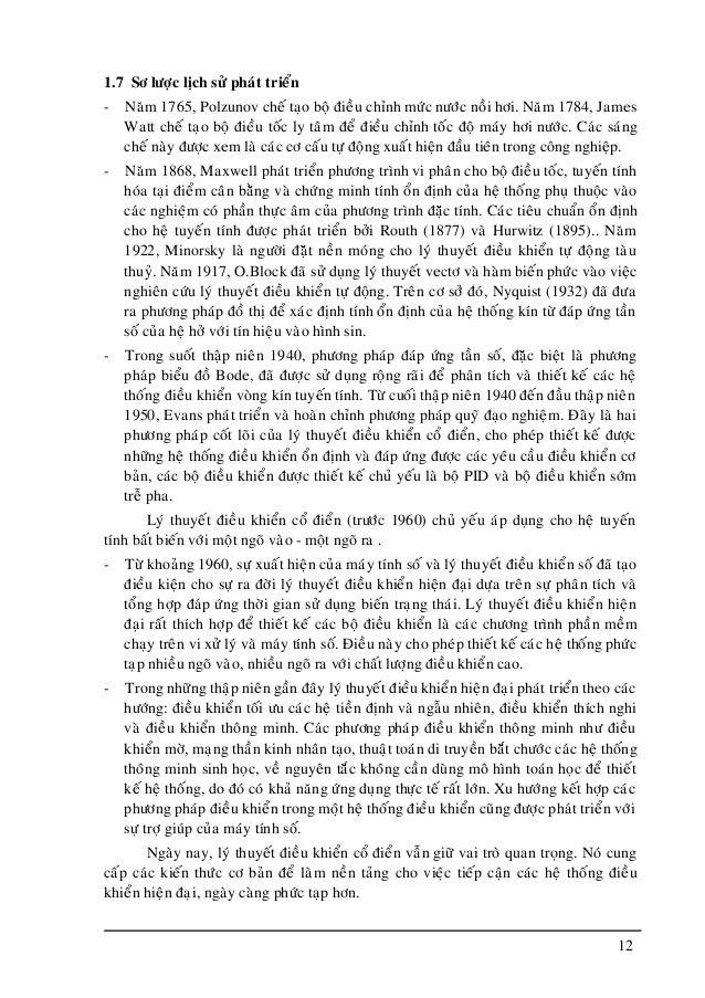 12 1.7 Sô löôïc lòch söû phaùt trieån - Naêm 1765, Polzunov cheá taïo boä ñieàu chænh möùc nöôùc noài hôi. Naêm 1784, Jame...