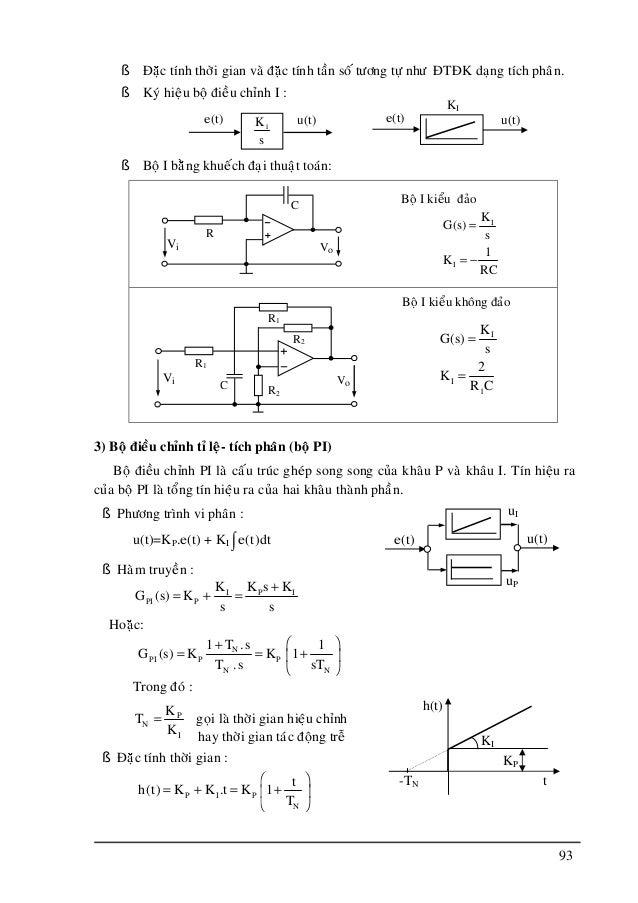 Kỹ thuật điều khiển tự động - Cơ khí chế tạo máy