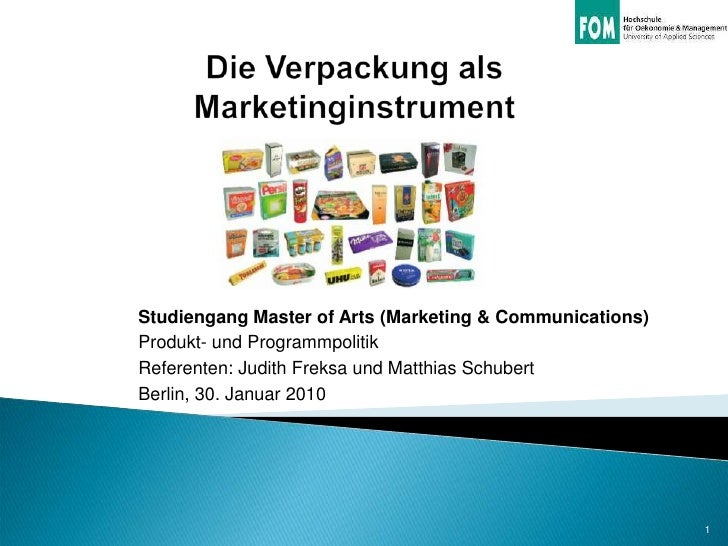 Studiengang Master of Arts (Marketing & Communications)Produkt- und ProgrammpolitikReferenten: Judith Freksa und Matthias ...