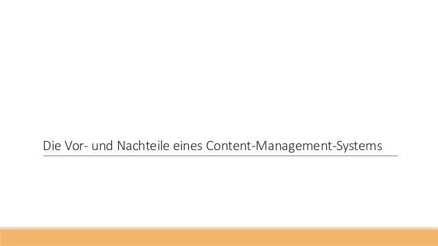 Die Vor- und Nachteile eines Content-Management-Systems