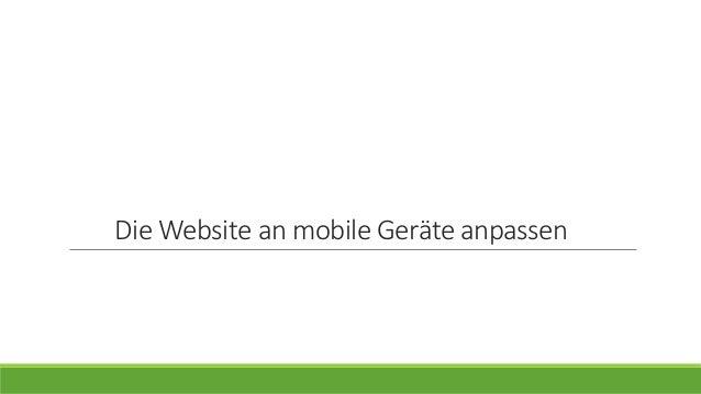 Die Website an mobile Geräte anpassen