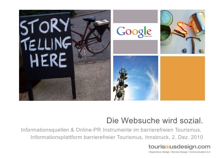 Die Websuche wird sozial - Infoquellen für barrierefreie Reisen Tagung ifbt