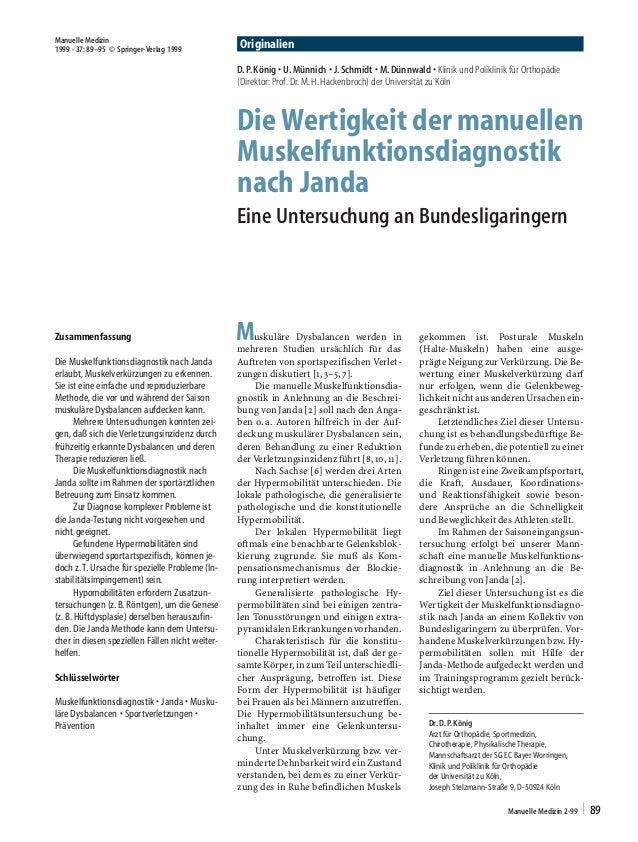 D. P. König · U. Münnich · J. Schmidt · M. Dünnwald · Klinik und Poliklinik für Orthopädie  (Direktor: Prof. Dr. M. H. Hac...