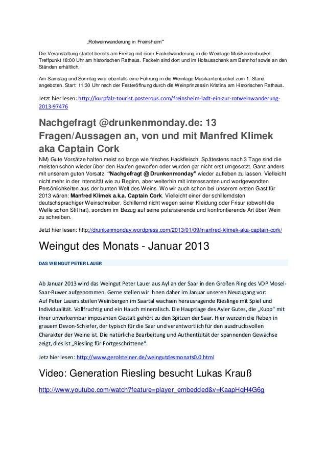 """""""Rotweinwanderung in Freinsheim'""""Die Veranstaltung startet bereits am Freitag mit einer Fackelwanderung in die Weinlage Mu..."""