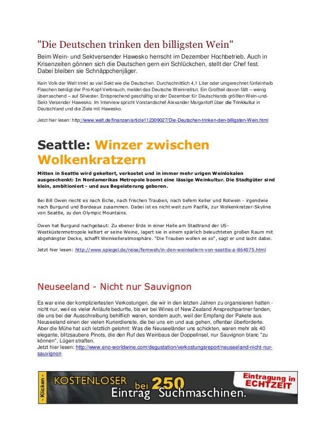 """""""Die Deutschen trinken den billigsten Wein""""Beim Wein- und Sektversender Hawesko herrscht im Dezember Hochbetrieb. Auch inK..."""