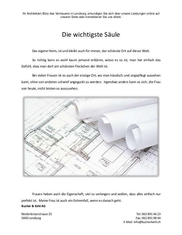 Ihr Architekten Büro des Vertrauens in Lenzburg, erkundigen Sie sich über unsere Leistungen online auf unserer Seite oder ...
