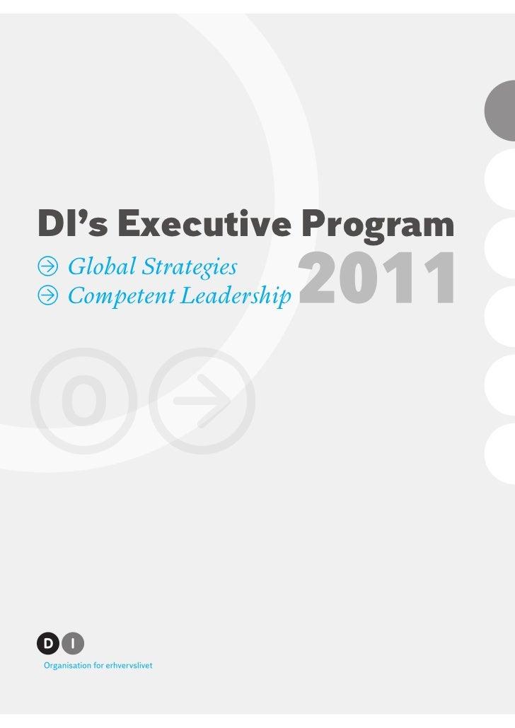 DI's Executive Program» Global Strategies» Competent Leadership