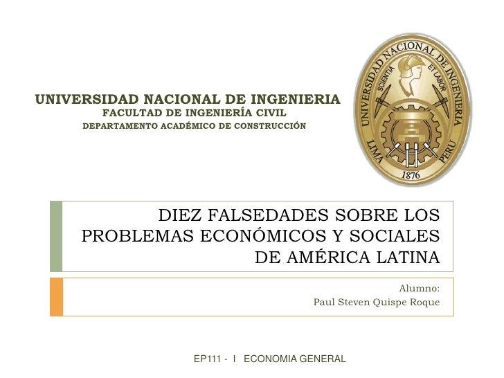 UNIVERSIDAD NACIONAL DE INGENIERIA        FACULTAD DE INGENIERÍA CIVIL     DEPARTAMENTO ACADÉMICO DE CONSTRUCCIÓN         ...