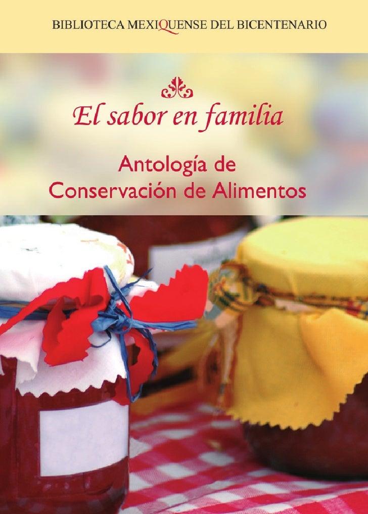 Manual de Conservación de AlimentosPrimera edición 2007DR C Sistema para el Desarrollo Integral de la Familia del Estado d...