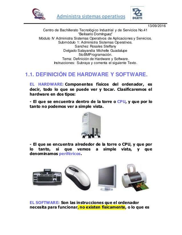 Diferencia entre hardware software y los elementos de una for Elementos de hardware