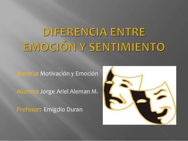 Diferencia entre emoci n y sentimiento for Diferencia entre yeso y escayola
