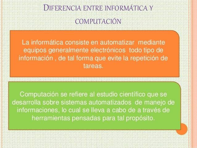 Diferencia entre informatica y computacion for Diferencia entre yeso y escayola