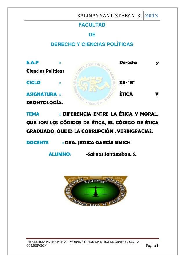 SALINAS SANTISTEBAN S. 2013 FACULTAD DE DERECHO Y CIENCIAS POLÍTICAS E.A.P  :  Derecho  y  Ciencias Políticas CICLO  :  XI...