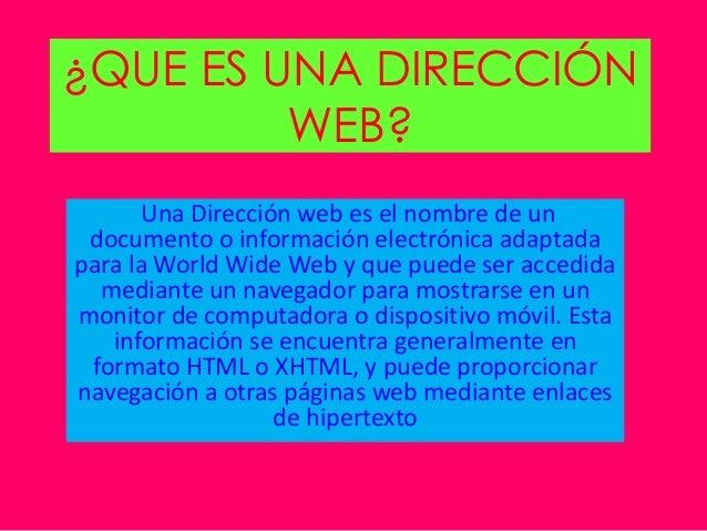 Diferencias entre direcci n web y direcci n de correo for Que es una pagina virtual
