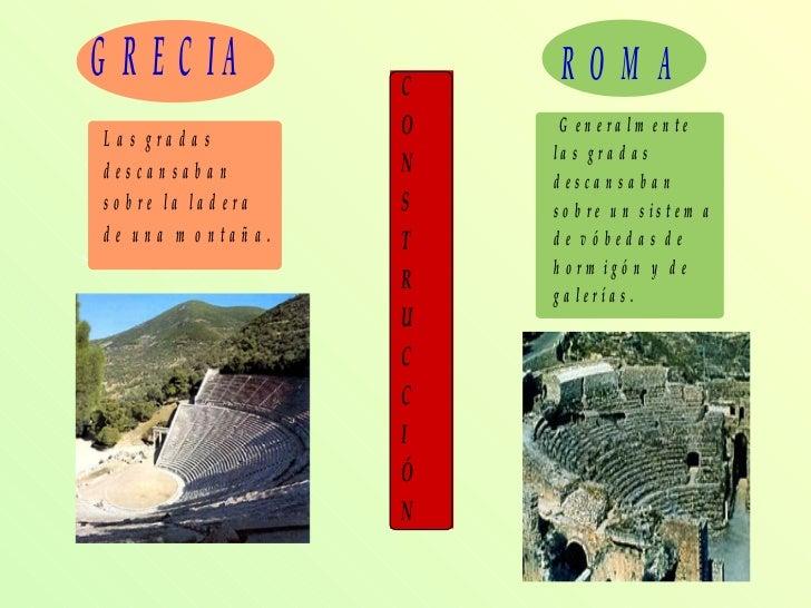 Diferencias Entre El Teatro Griego Y Romano Slide 2