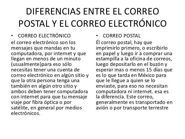 Diferencias del correo electr nico con el coreo postal for Oficina de correo postal