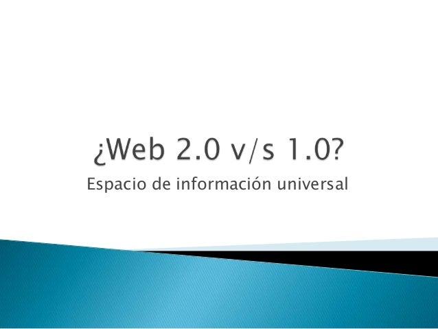 Espacio de información universal