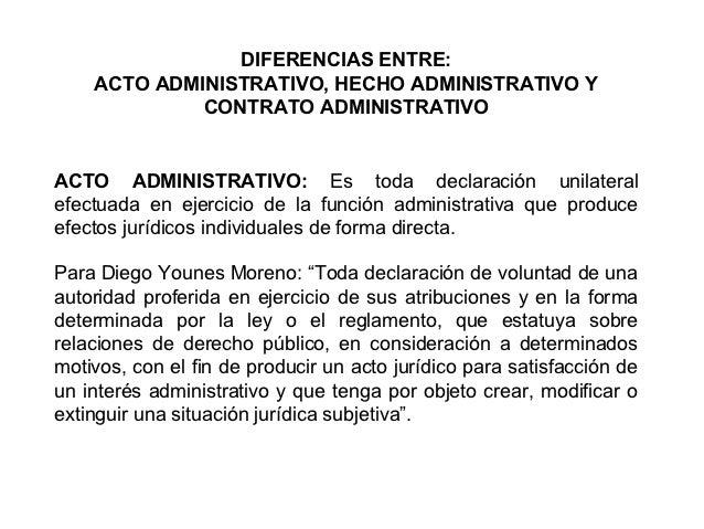 Diferencias entreacto administrativo hecho administrativo for Diferencia entre licencia de apertura y licencia de actividad