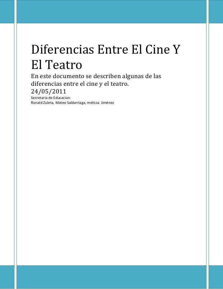 Diferencias entre el cine y el teatro for Diferencia entre yeso y escayola